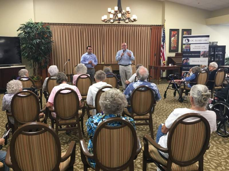 OC Elder Law presenting at Rowntree Gardens Senior Living