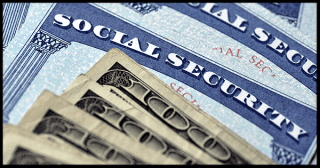 social security card and hundred dollar bills
