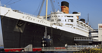 Queen Mary at the dock